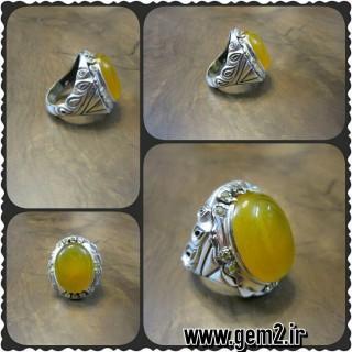 آرشیو محصولات مردانه انگشتری عقیق زرد رنگ