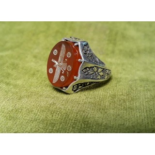 زیورآلات مردانه انگشتر با نماد فربهر-نماد فر کیانی-نماد-فروهر